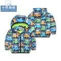 Детская одежда ребенок мужского пола 2015 осень открытый случайный верхняя одежда маленький ребенок с капюшоном открытый куртка