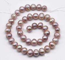 Cultured Pearl Loose Beads,9-10mm Lavender Color Potato Genuine Freshwater Pearl Jewellery,One Full Strand 16 inches 30 40mm aaa natural lavender fireball baroque pearl loose strand