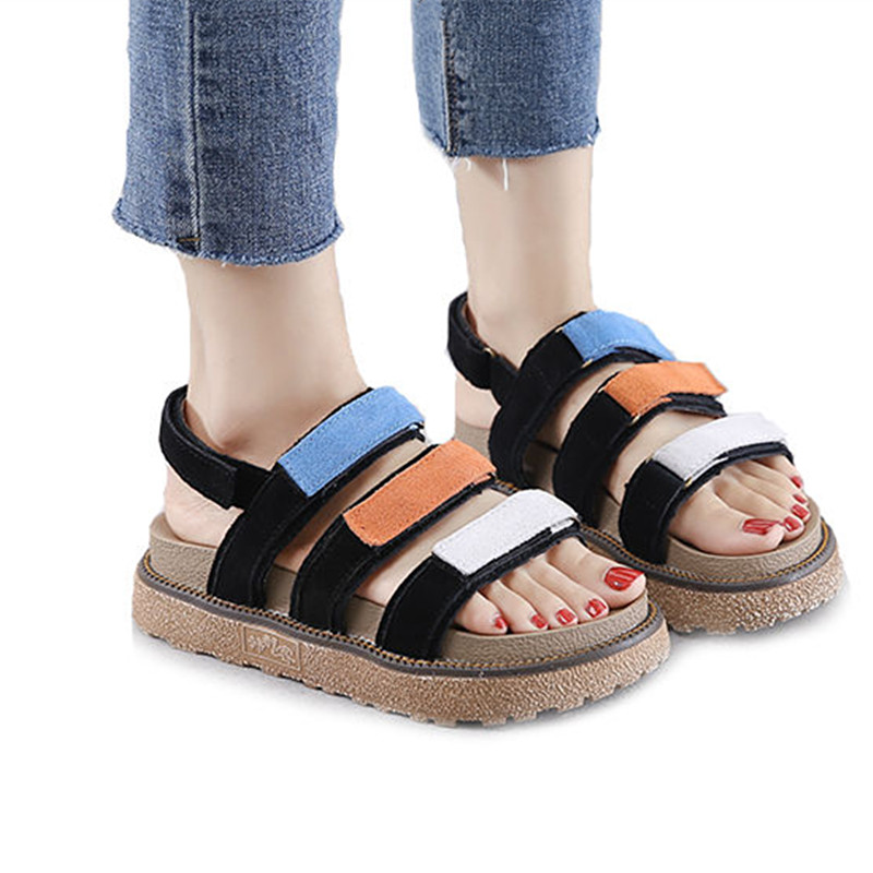 9f1313a1b72 Aliexpress.com   Buy NEW Summer Women s Shoes Popular Platform Sandals  Woman Big Size 41 42 43 Cow Suede Women s Sandals Fashion Mixed Color Shoes  from ...
