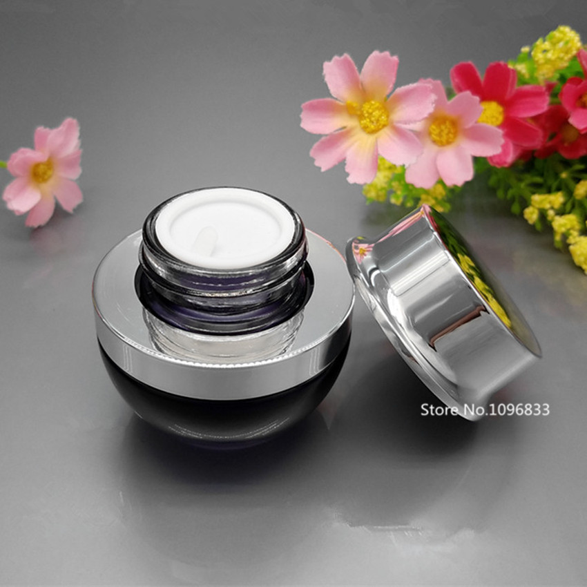 10PCS Refillable Cosmetic Container Glass Face Cream Lotion Bottle Jar Black Small Cosmetic Eye Cream Bottle 20g 30g 20ml 30ml gardening tool small rake black cream colored