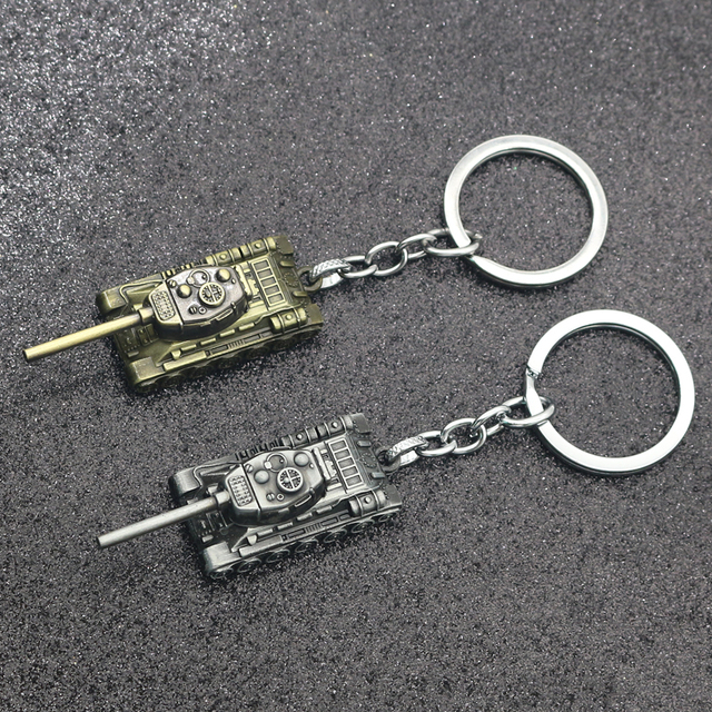 WOT World Of Tanks Keychain 46G Heavy Punk Weapon 3D Tank IS Series Keychains Ke