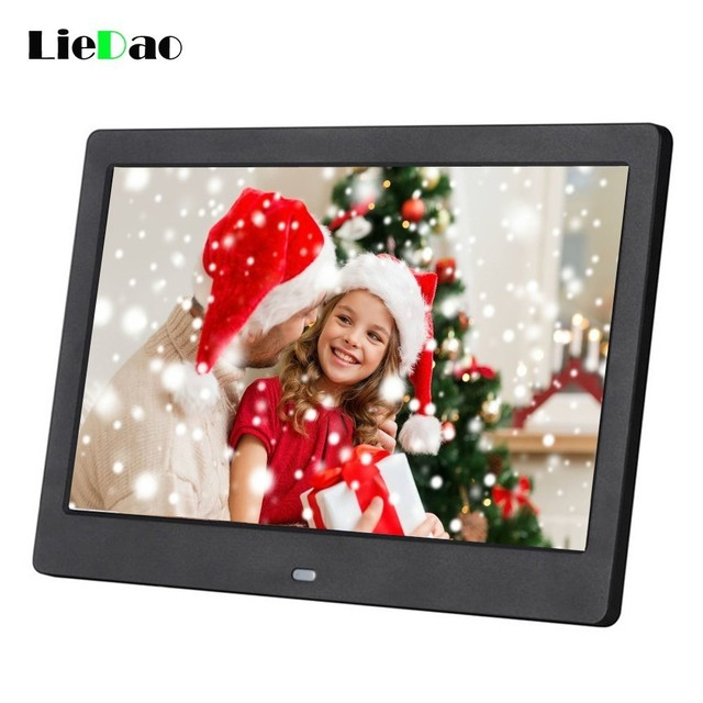 Flash Sale New 10 inch Screen Digital Photo Frame HD 1024 x 600 Electronic Album Outside Recharging Battery Picture Music Video Good Gift