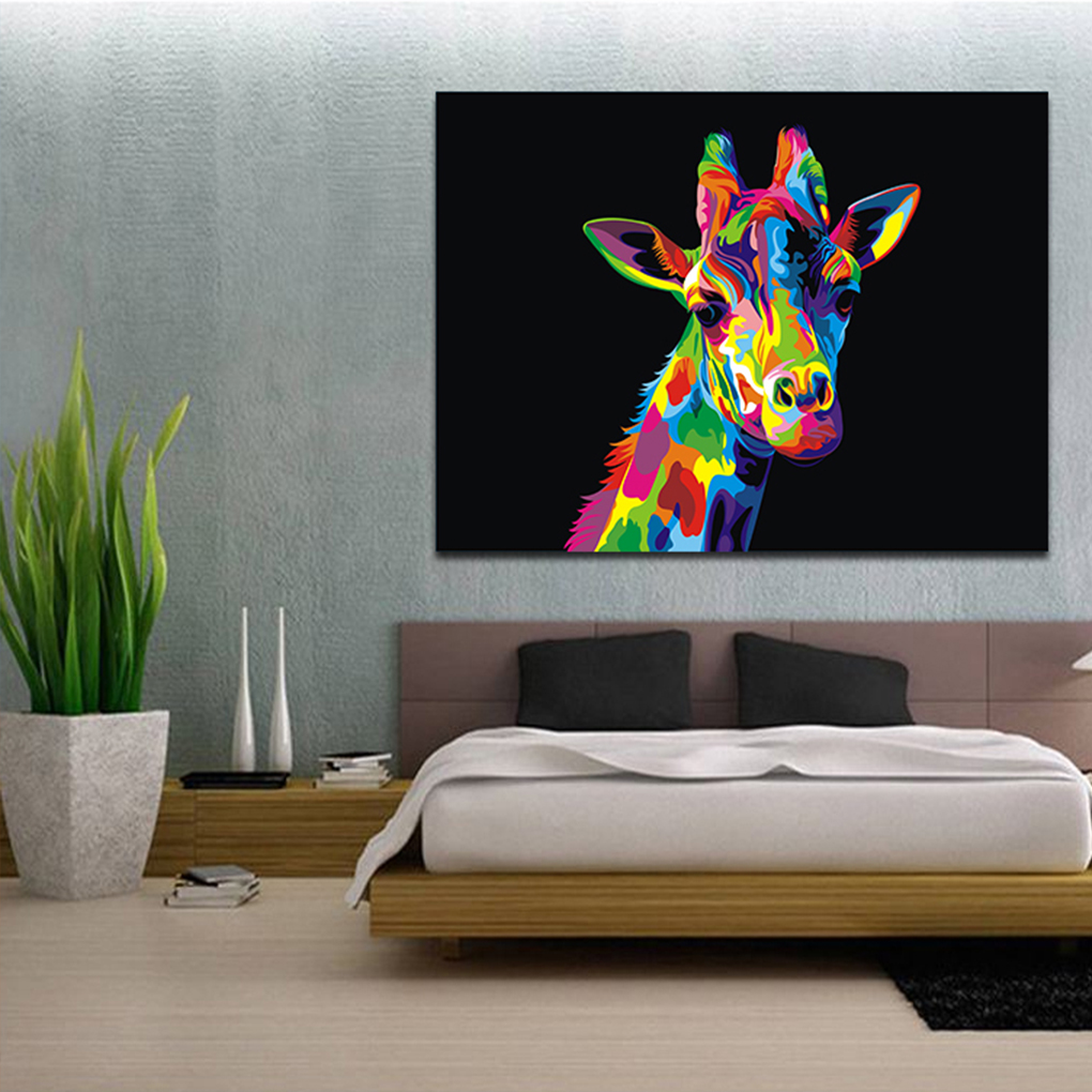 Animal Giraffe canvas Poster Print Sports Pictures For Living Room Decor canvas oil art paintings art Painting Poster Wall Art