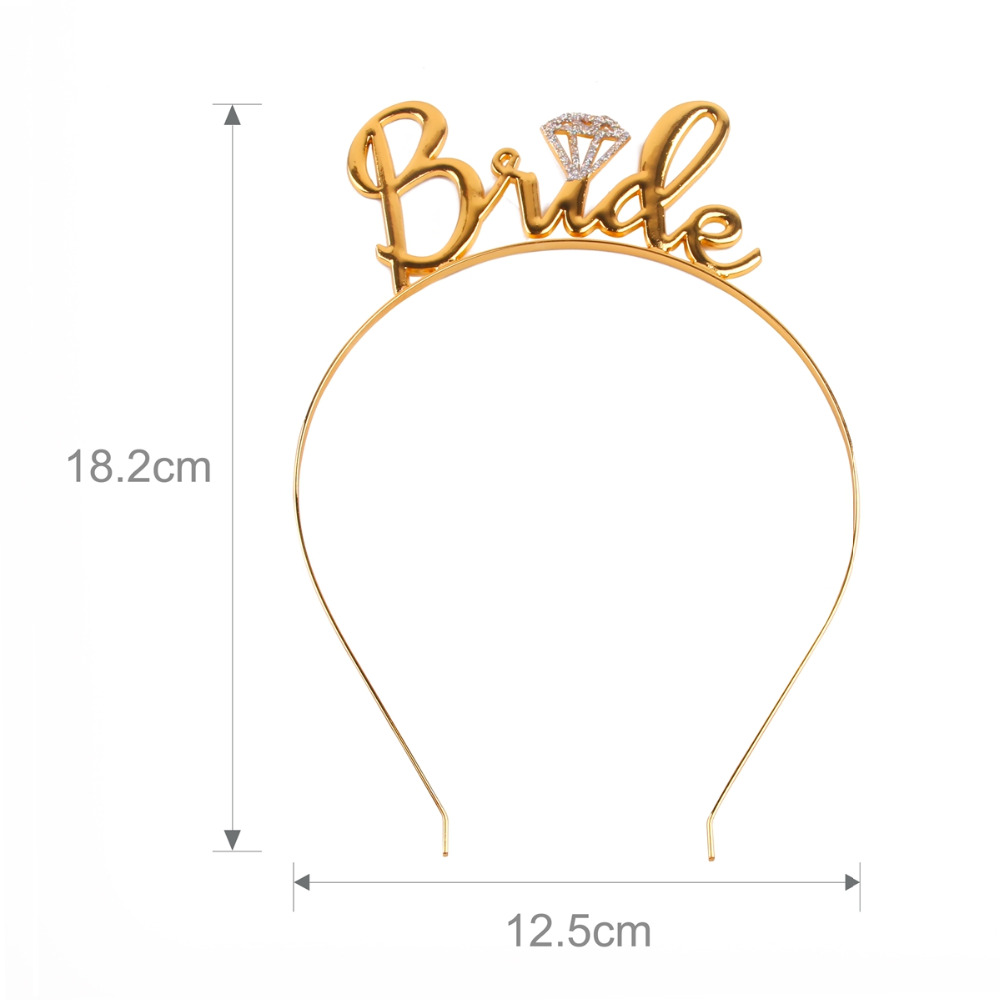 FENGRISE Rose Gold Party Balloon Team Bride to be Balloons Golden Wedding Decor Bridal Shower Party Decoration Photo Booth Props in Ballons Accessories from Home Garden