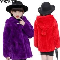Популярное Новое Детское пальто с мехом Детское пальто с кроличьим мехом 100% года милые зимние пальто для малышей пальто Меховая куртка мехо