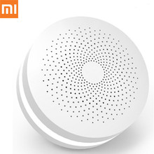 Xiaomi Mijia Smart Home Multifunctional Gateway Upgrade WiFi Remote Center Control 16 Million RGB Lights Home Security Device updated version xiaomi mijia smart multifunctional gateway 2 wifi remote center control 16 million rgb lights smart home