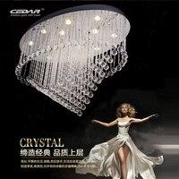 Новый Овальный дизайн потолком Хрустальная люстра светодио дный kristall современной гостиной светильники