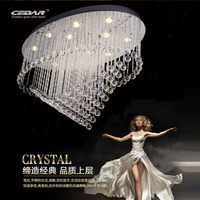 New oval design ceiling crystal chandelier LED kristall modern living room light fixtures
