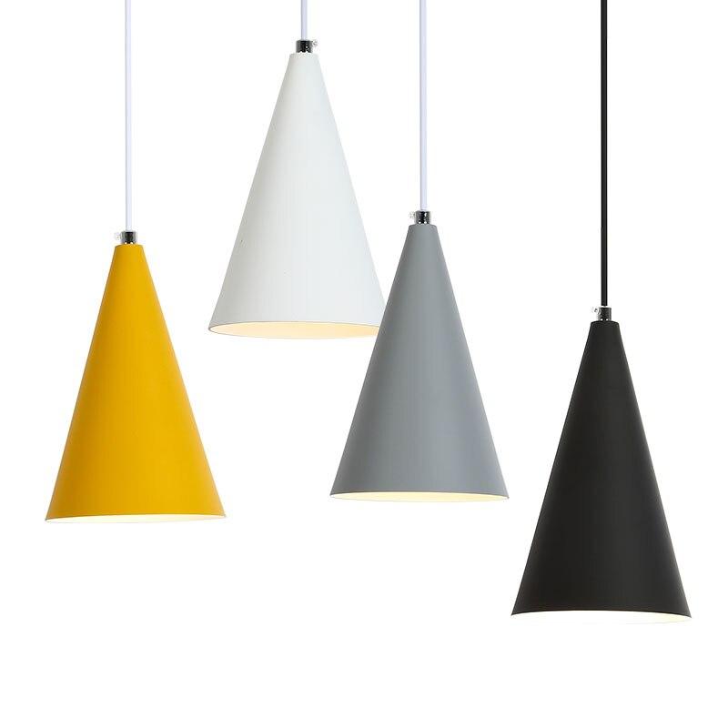 Pendentif Lumières Lustres Abajur Pendentif Lampe Luminaire Hanglamp En Aluminium abat-jour Luminaire Salle À Manger Lumières Pour La Maison Éclairage