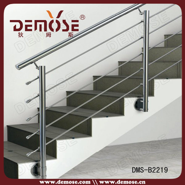 customed stainless steel stair railing price/side mounting