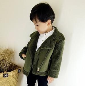 Image 2 - New Girls And Boys Coats  Winter Fur fleece jackets Unisex  kids Outwear  Girls Jacket 7CT069