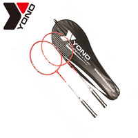 Genuine 2 Pack Single Shot Double Pieces Of Ultra Light Carbon Badminton Racket And Bag