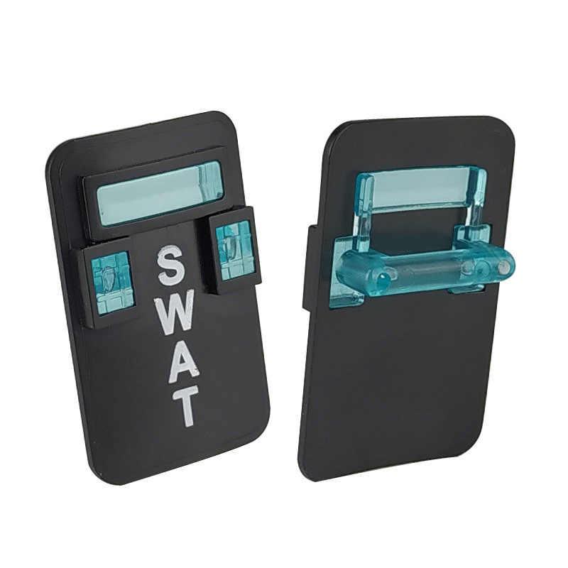 Bloqueo SWAT MOC escudo policial venta única Juguetes de bloques de construcción para niños Compatible con SWAT ejército militar juguete de bloqueo