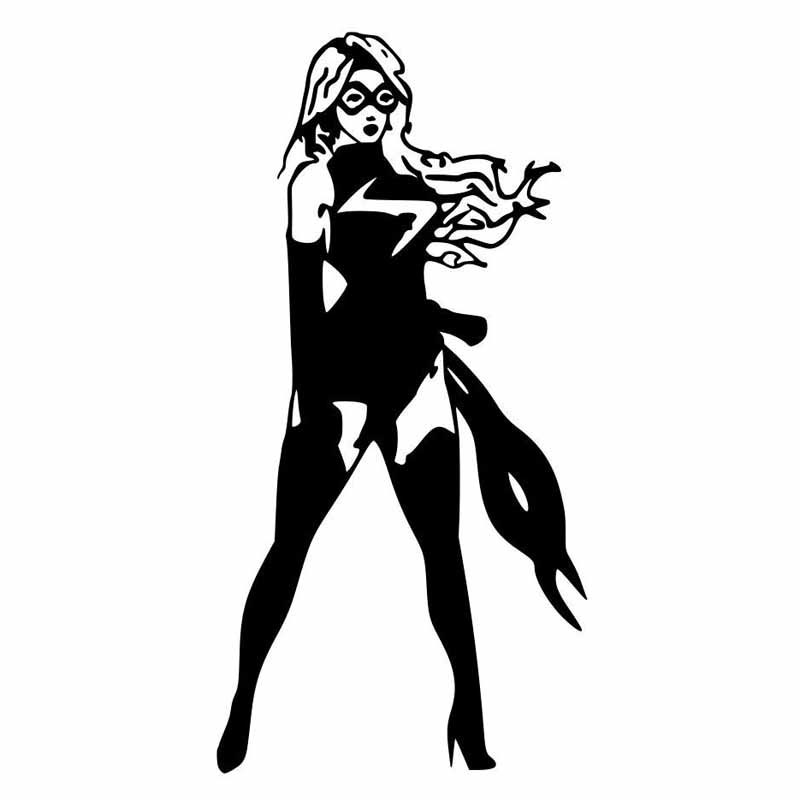 Superhero Family Of Women Personality Car Stickers Cartoon Motorcycle Vinyl  Decals Black/Silver C7 1502-in Car Stickers from Automobiles & Motorcycles  on ...