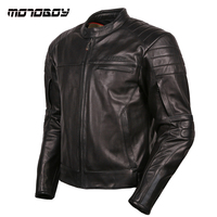 NEW Motoboy Really Leather Motorcycle Jacket Racing High Quality Leather Clothes Protection Motorcross Leather Jacket