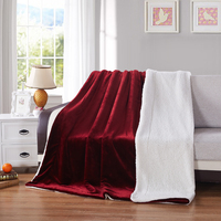 Home textile flannel Blanket super warm soft Berber fleece blandets double layer throw on Sofa Bed Plane Plaids Solid Bedspreads