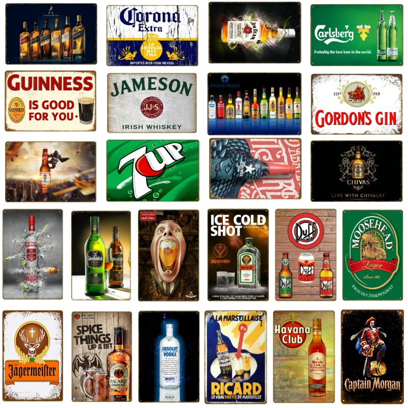 Personlised Gin Bar Vintage Retro ENAMEL METAL TIN SIGN WALL PLAQUE