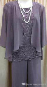 Image 2 - Costume pour mère de mariée, 3 trois pièces avec veste, costume pantalon, tenue formelle de soirée, dentelle pour mariage, marié musulman, SLD M01