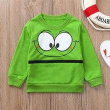 Camiseta de manga larga de bebé de dibujos animados ojos suave camiseta para niños pequeños Tops camisa ropa para niñas niños ropa de bebé primavera kinderkleding