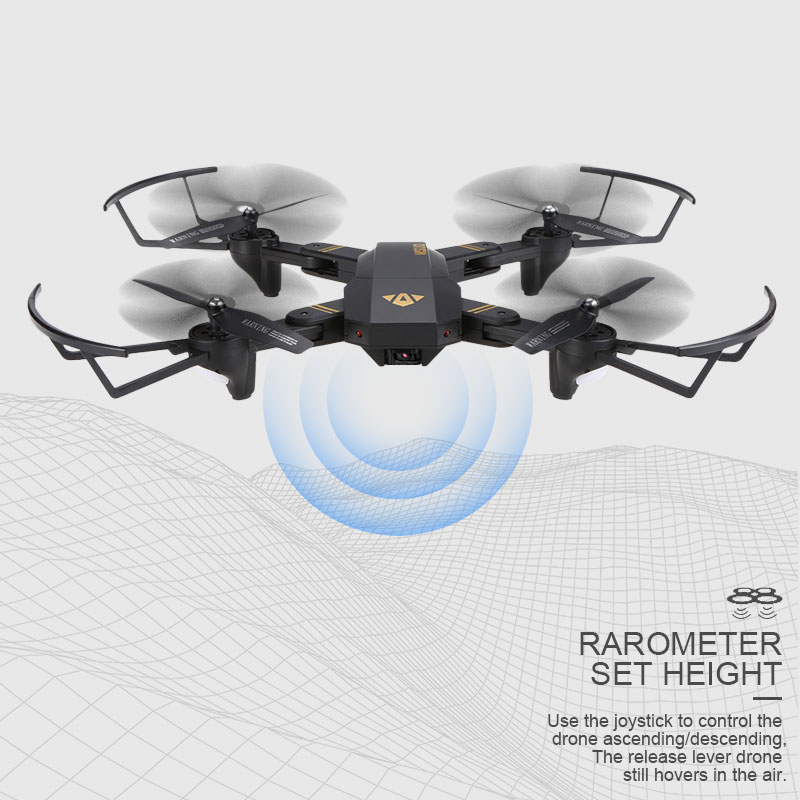 Visuo XS809W XS809HW quadrirotor Mini Pliable Drone selfie avec Wifi FPV 0.3MP/2MP CAMÉRA Maintien D'altitude RC Dron Vs JJRC h47 E58 - 2