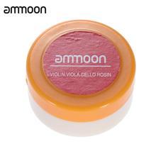 Ammoon прозрачный оранжевый натуральная канифоль цилиндрическая для Скрипка Альт Виолончель свет и с низким уровнем пыли