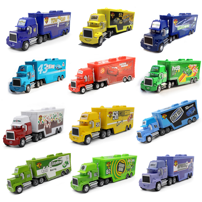 Alloy Cars Lightning McQueen NO.95 Trunk MACK NO.86 Uncle Jimmy The King 1:55 Diecast Metal Alloy Model Toys Car For Kids