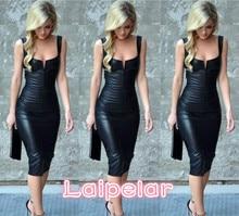 Dress 2018 Women Dress Novelty Pencil Solid Color Sleeveless Sexy Deep V-Neck Knee-Length Summer Tank Dress A490519 Laipelar double v cut full length tank dress