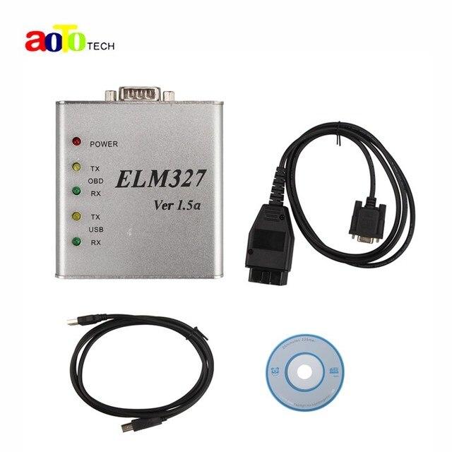New Arrival Metal ELM 327 1.5V USB CAN-BUS Scanner ELM327 Software OBD2 ELM 327 Metal