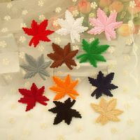 11Pieces Maple Leaf Sew On Iron On Kid S Baby Embroidered Applique Patch DIY Cloth Accessory