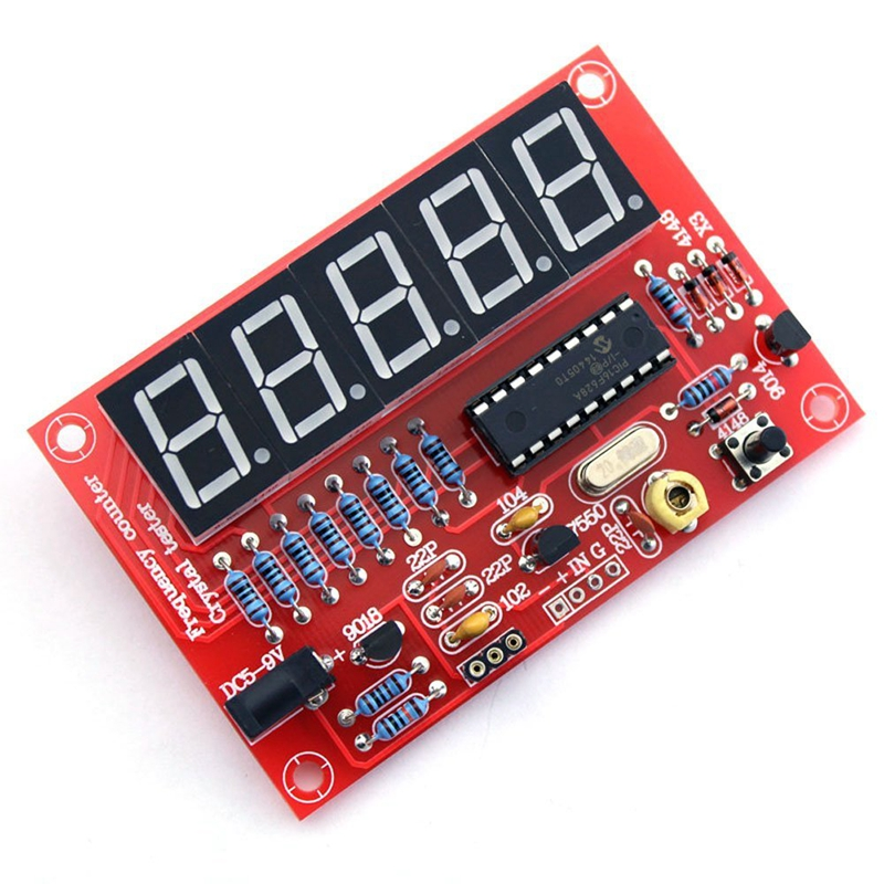 50 <font><b>MHz</b></font> <font><b>Crystal</b></font> Oscillator Frequency counter Testers DIY Kit 5 Resolution Digital Red image