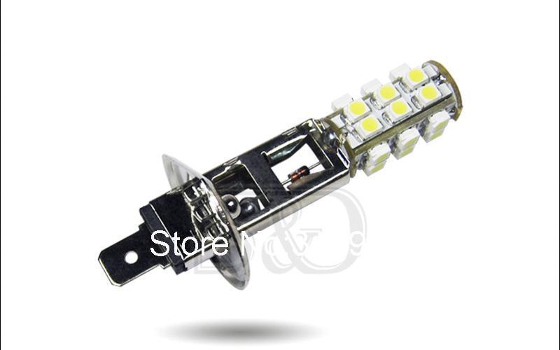 DHL H1 25 SMD белый луч сигнала дальнего света светодиодный лампы авто светодиодный лампы автомобиля светильник источник 12V 6000K головка Противотуманные огни
