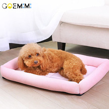 Summer Breathable Dog Bed Comfortable Cooling Mat For Pet Puppy Cats Oxford Cloth  Cushion cama perro grande