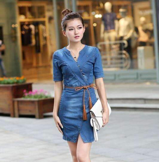 summer style luxury fashion brand denim dress 2015 classic brand