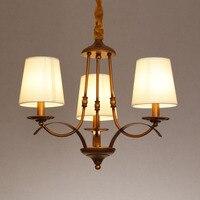 American pastoral village iron bronze pendant light 3 head Mediterranean Restaurant study bedroom pendant lamps ya816