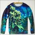 Mujer moletons sudaderas brote harajuku sudaderas mens weed leaf galaxy sudadera de cuello redondo jumper tops sudaderas