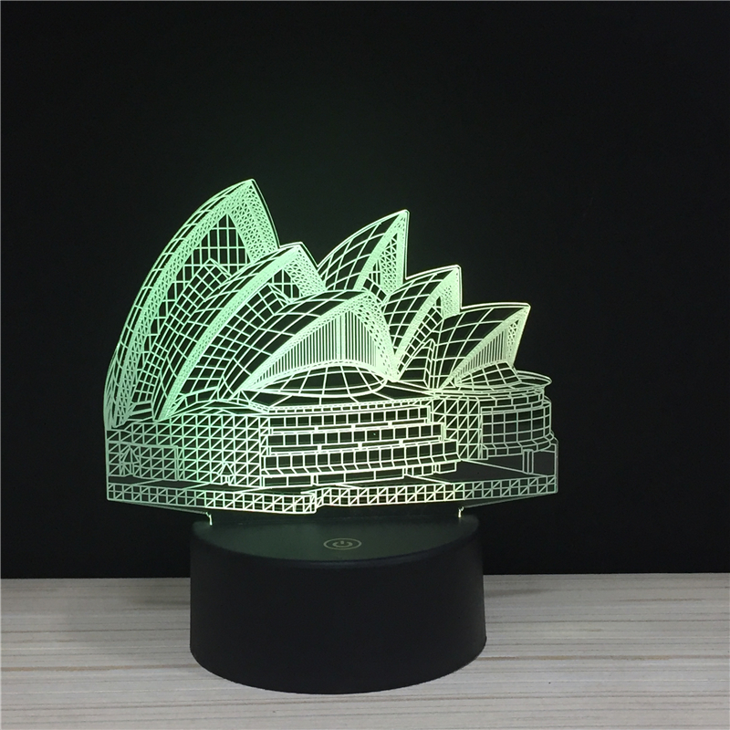 Famous building 3D Night light Egyptian Pyramids LED Statue-of-Liberty 7colors change lamps landmark souvenir Taj Mahal <font><b>LasVegas</b></font> image