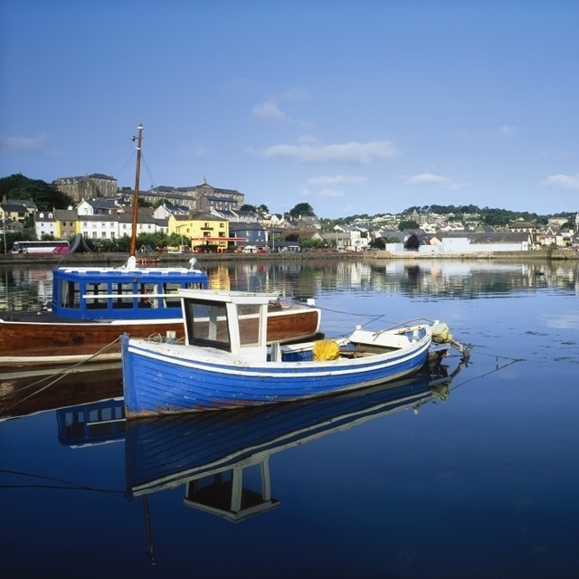 Kinsale  Co Cork  Ireland; Boats In The Water In A Town Poster Print (36 x 24)