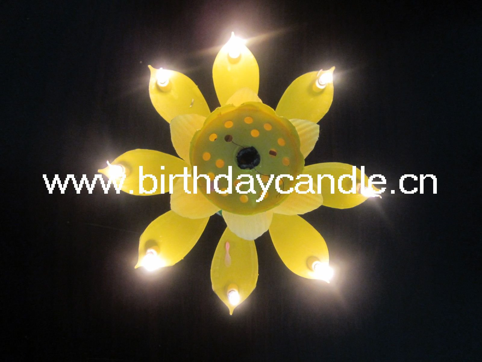 Lotus rotating music birthday candleopening flower candle in flower music birthday candle izmirmasajfo