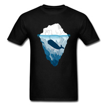 Friends T-shirt Men Simple 3D T Shirt Whale And Iceberg Print Summer Clothes 100% Cotton Tops & Tees Casual Tshirt Free Shipping