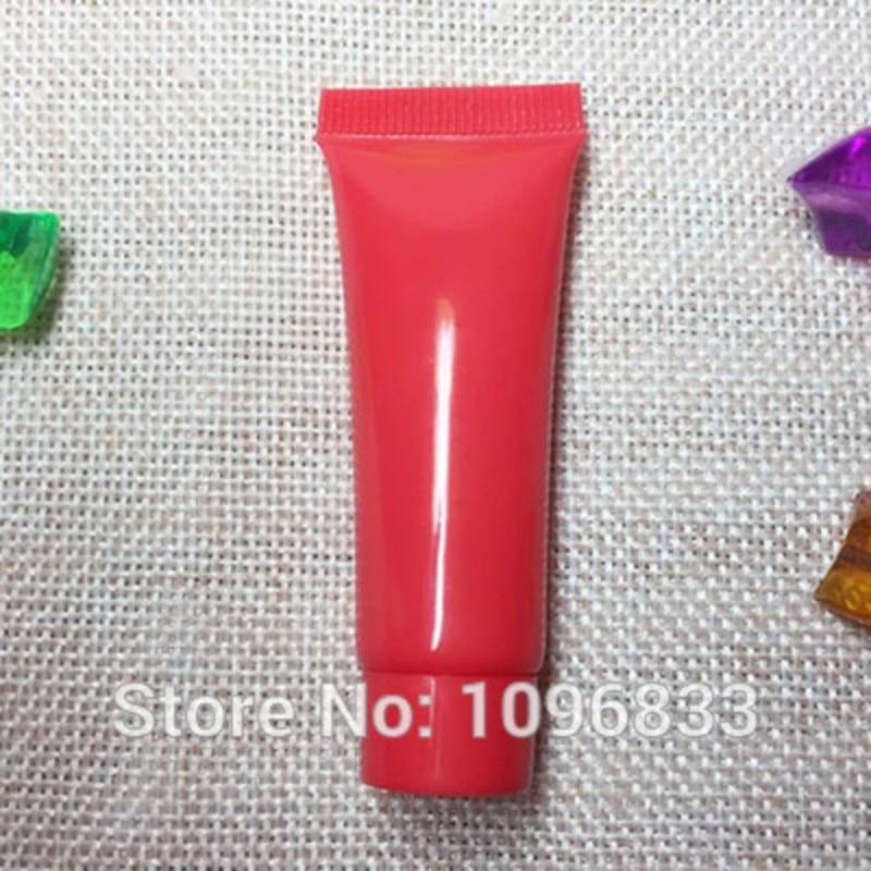10g Cosmetic Sample Bottle, Red Plastic Tube, Hand Cream Soft Bottle, Soft Packing Tube, Shampoo Gel Packing Bottles, 100pc/Lot