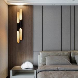 Image 2 - Lámpara de pared Vintage con forma de bambú, creativa, para Bar, comedor, dormitorio, mesita de noche, biselada, de metal