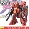 Дабан Модель Gundam MG NEO ZEON MSN-04 SAZABI Версия Ка розничная Модели Красный Amour 1/100 Ver. KA Фигурку Собраны Роботы игрушки