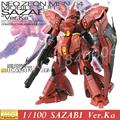 Versão neo zeon modelo daban gundam mg msn-04 sazabi ka Modelo de varejo Red Amour 1/100 Ver. KA Action Figure Robôs Montados brinquedos
