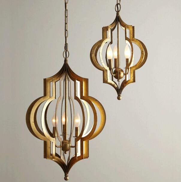 Luminaria de teto Americká jídelna Ložnice Závěsná lampa Art - Vnitřní osvětlení