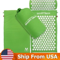 Acupressure Mat And Pillow Set Relieves Stress Back Neck And Sciatic Pain Comes With A Cotton