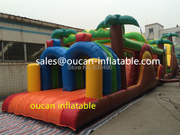 free shipping 20x3.5x5m giant inflatable combination for small pool, inflatable water slides for sale