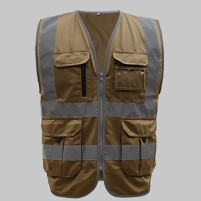 SFvest High visibility reflective safety vest reflective vest multi pockets workwear safety waistcoat free shipping