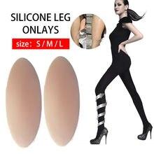 Bacak düzeltici silikon bacak Onlays yumuşak kendinden yapışkanlı çarpık veya ince bacaklar dahil olmak üzere streç bacak kollu stil aksesuar