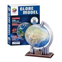 3d Câu Đố Globe Hành Tinh Giấy Mô Hình Chiều Giáo Dục Lắp Ráp Đồ Chơi cho Trẻ Em Trẻ Em Đồ Chơi Jigsaw