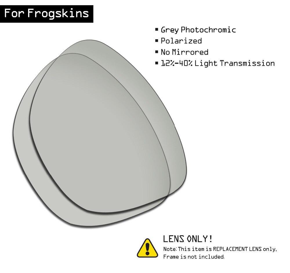 SmartVLT Polarized Sunglasses Replacement Lenses For Oakley Frogskins - Grey Photochromic